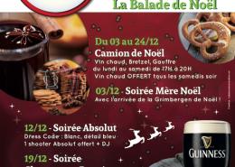 Affiche Soirées de Noël au Black Shelter à Carquefou - Label Communication