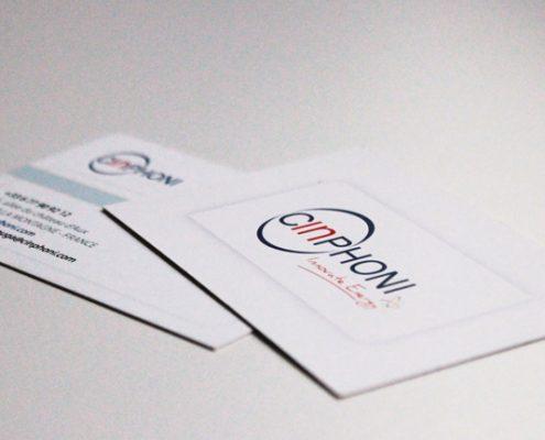 Cartes de visite pour Cinphoni - Label Communication