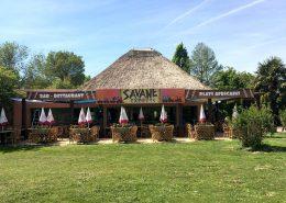 Façade du restaurant La Savane Express - Planète Sauvage - Port Saint Père (44) - Label Communication