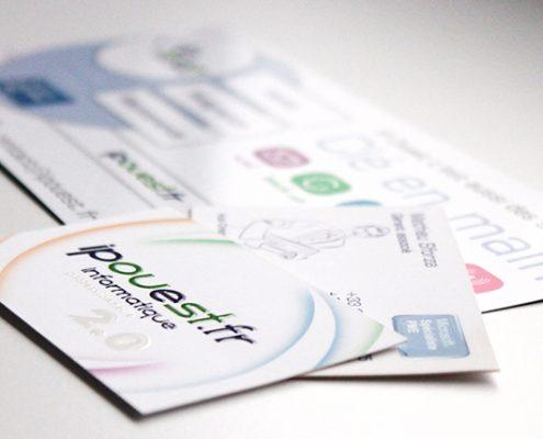 Cartes de visite pour IPOuest.fr - Label Communication