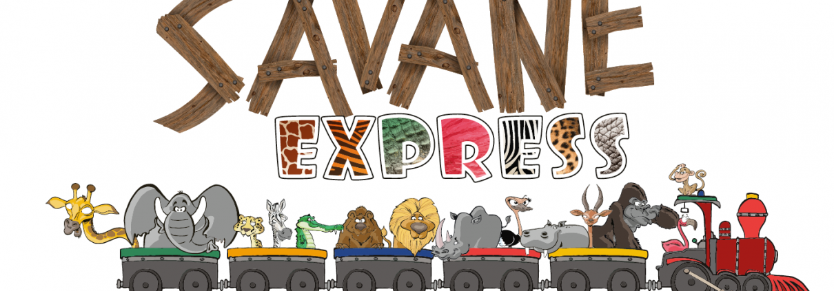 Logo et animaux Savane Express - Label Communication