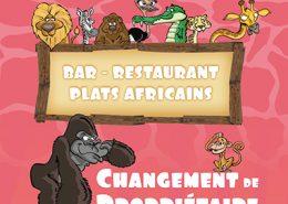Flyer pour le Restaurant Savane Express - Label Communication