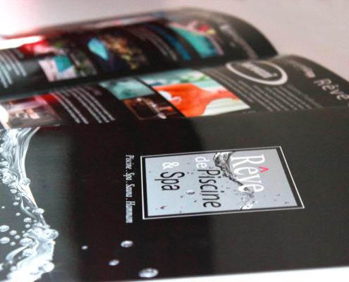 Plaquette A4 dépliant pour Rêve de Piscine & SPA à Nantes (44)