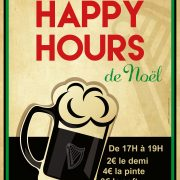 Affiche Happy Hours au Black Shelter à Carquefou - Label Communication
