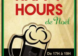 Affiche Happy Hours au Black Shelter à Carquefou - Label Communication