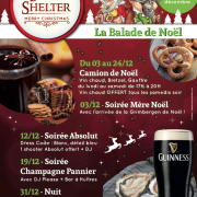 Affiche Soirées de Noël au Black Shelter à Carquefou - Label Communication