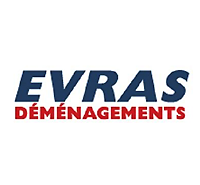 Logo EVRAS Déménagements - Label Communication