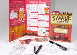 Carte, menu et flyer pour le Restaurant La Savane Express - Label Communication