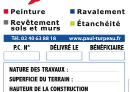 Panneau de chantier pour Paul Turpeau - Label Communication