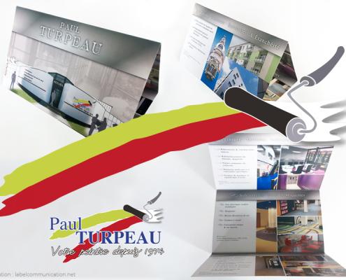 Plaquette pour Paul Turpeau - Label Communication