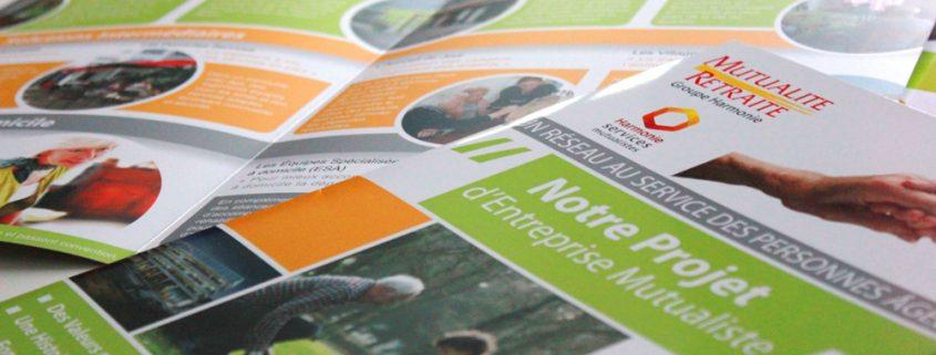 Plaquettes pour Mutualité Retraite - Label Communication