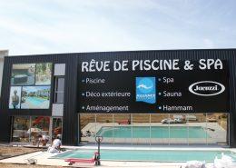 Création et pose de l'enseigne Rêve de Piscine et SPA à Carquefou (44) - Label Communication