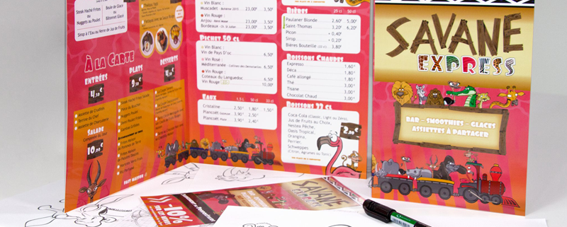 Communication globale du Restaurant Savane Express - Label Communication