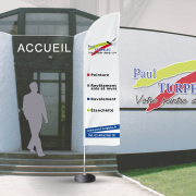 Voile ou oriflamme pour Paul Turpeau - Label Communication
