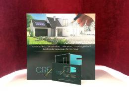 Carte de visite et flyer pour CREA Construction (44)