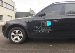Marquage sur véhicule CREA Construction (44)