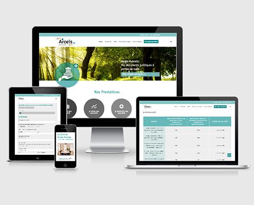 Site e-commerce Arceis Avocats à Nantes (44)