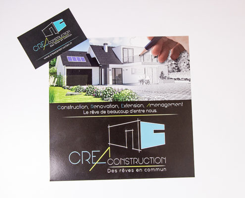Flyer et carte de visite CREA Construction (44)