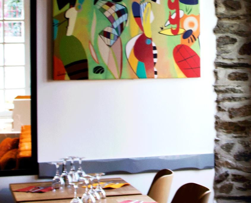 Tableau décoratif, L'Ô à la Bouche restaurant bistronomique à Vertou (44)