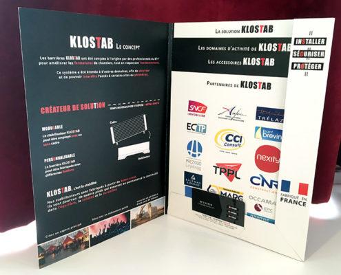 Plaquette avec fiches séparables et carte de visite pour KLOSTAB (49)