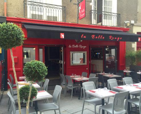 Enseigne et façade pour La Belle Rouge, restaurant à viande à Nantes (44)