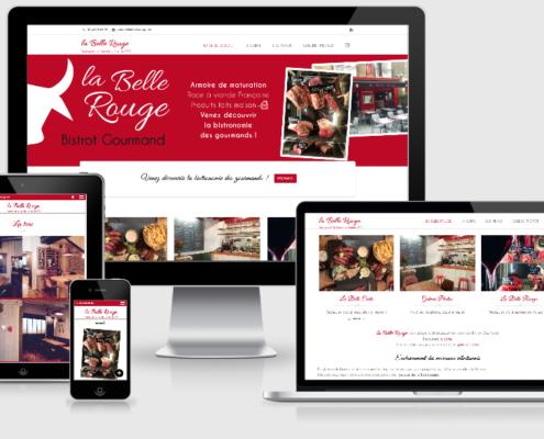 Site internet pour La Belle Rouge, restaurant à viande à Nantes (44)