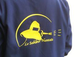 Broderie sur vêtements, vestes et blousons pour Le Sableur Nantais (44)