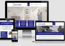 Refonte du site internet d'Escalev à Vallet (44) et Angers (49)