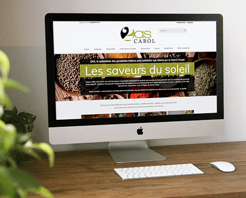 Création du site catalogue de 2AS Carol à Nantes (44)