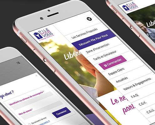 Création du site e-commerce de Pile Pour Vous à Nantes (44)