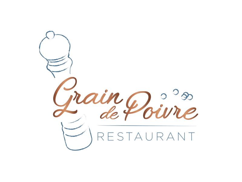 Refonte identité visuelle - Logo du restaurant Le Grain de Poivre à Nantes